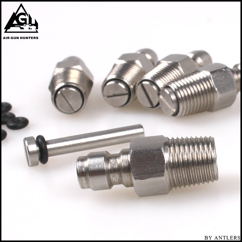 Image 3 - Paintball PCP Filling Nipple Stainless Steel 8mm Air Tank Quick Release Coupler Plug with One Way Foster 1/8NPT 10PCS Oring free-in Paintball Accessories from Sports & Entertainment