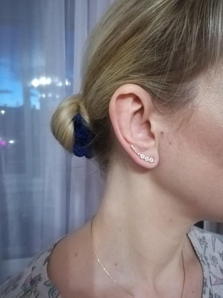 Fine Zircon Ear Cuff Classic Simple Fashion Jewelry Earrings For Women Bijoux 2018 Wholesale Flower Design Gift