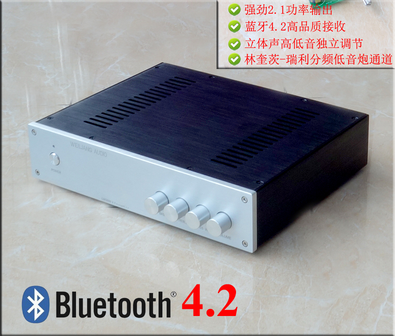 Finished BA1 LM3886 2.1 channel Audio Amplifier Bluetooth 4.2 HIFI 2SC5200 2SA1943 Power Amplifier Pre-Amp