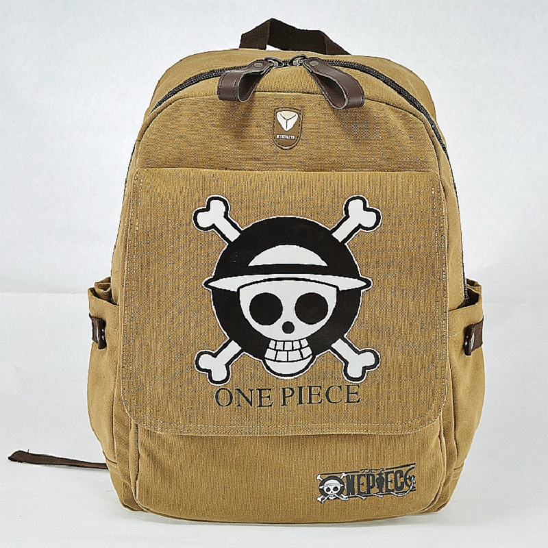 Preppy Schoolbag Teenager Canvas Rucksack Japanese Anime ONE PIECE Backpack Children's School Bag Skull Printing Bag anime cartoon tokyo ghoul cosplay backpack schoolbag one piece gintama school bag rucksack men s women s naruto travel bag