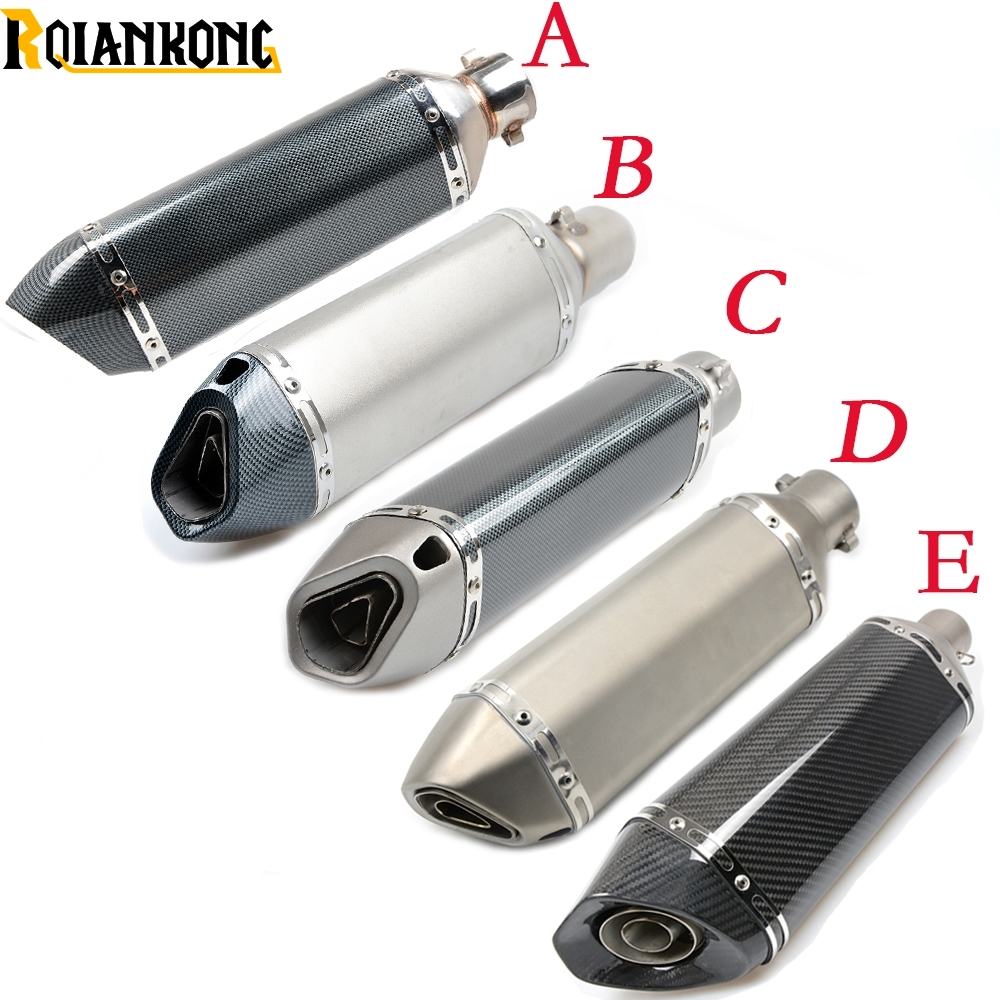 Motorcycle Inlet 51mm exhaust muffler pipe with 61/36mm connector For Kawasaki VERSYS 1000 VULCAN/S 650cc Z800 Z 1000SX free shipping inlet 61mm motorcycle exhaust pipe with laser marking exhaust for large displacement motorcycle muffler sc sticker