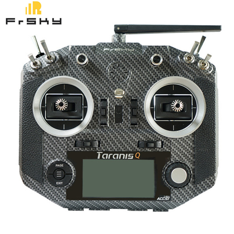 High Quality Frsky Taranis Q X7S Radio Tansmitter Parts Carbon Fiber Silicone Case Cover Shell for RC Models Remote Controller
