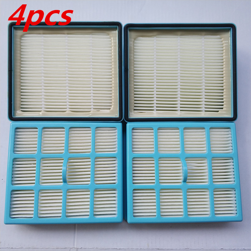4pcs Vacuum Cleaner Filter Parts Hepa Filter for replacement Philips FC8140 FC8142 FC8130 FC8144 FC8146 FC8131 FC8147 FC8132 vacuum cleaner hepa filter gy308 gy309 gy406 gy 408 129x148mm