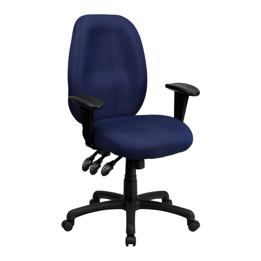 Flash Furniture High Back Navy Fabric Multi-Functional Ergonomic Task Chair with Arms [863-BT-6191H-NY-GG] 1000g 98% fish collagen powder high purity for functional food