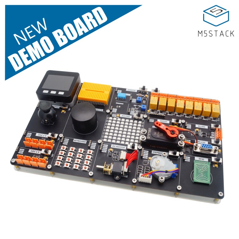 New Arrival! M5Stack IOT Training Kit Environment Sensor Set Encoder Industrial Application DEMOBOARD