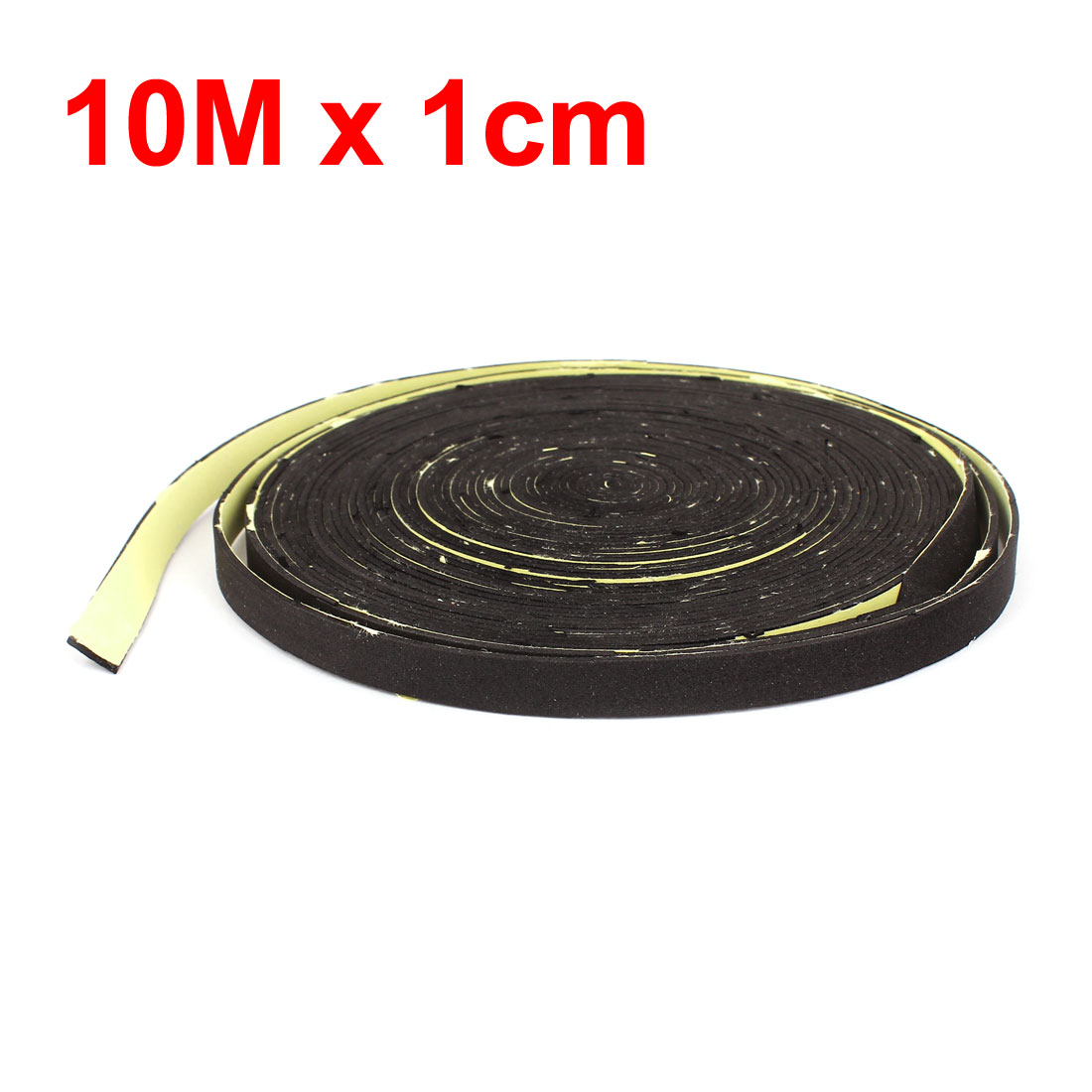 Uxcell preto 10m 33ft comprimento 1cm largura do carro áudio alto-falante fita de vedação