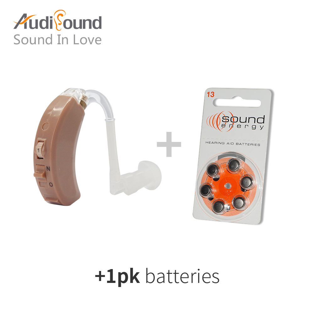 Audisound designed BTE hearing aid aids Analogue hearing sound voice amplifier O-N-H Adjustment aparelho auditivo hearing device bte headset hearing aids s 137 medical equipment sound voice amplifier for hearing impaired free shipping