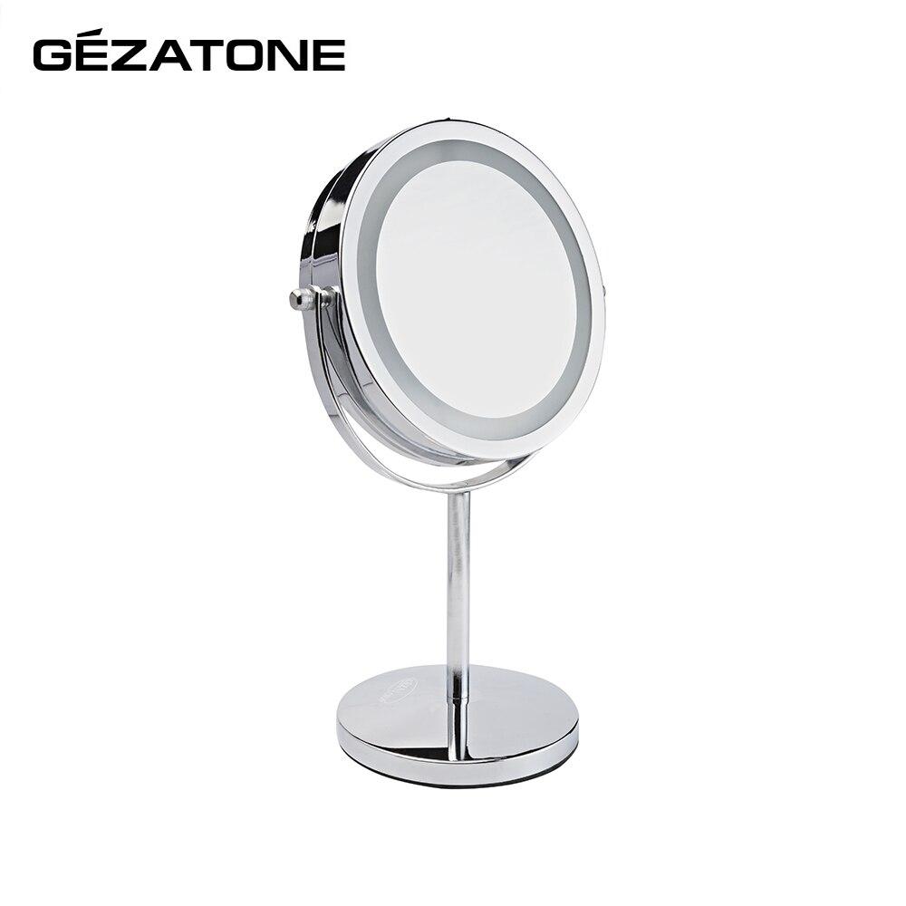 Makeup Mirrors Gezatone 1301165 lighted makeup mirror acrylic frame led makeup mirror
