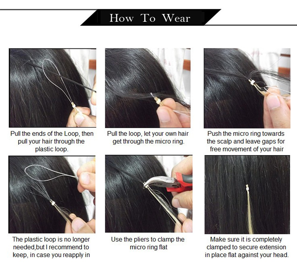 how to wear micro ring hair
