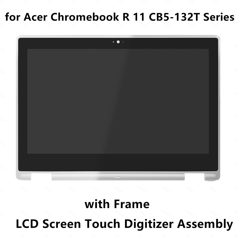 11.6'' Touch Glass Digitizer LCD Display Screen Assembly For Acer Chromebook R 11 CB5-132T Series CB5-132T-C6V4 CB5-132T-C5B0 roocase netbook carrying bag for acer cromia ac761 11 6 inch hd chromebook wi fi 3g deluxe series