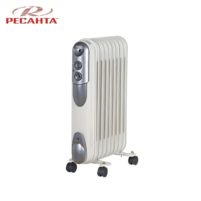 Oil radiator RESANTA OMPT-9N Air heating Oil heater Space heating Oil filled radiator Sectional radiator