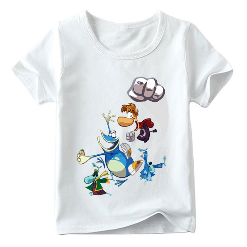 Kids Cartoon Rayman Legends Adventures Game Print T shirt Baby Girls Summer White T-shirt Boys Casual Funny Clothes,HKP5204 reiff t cd аудио adventures