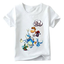 Kids Cartoon Rayman Legends Adventures Game Print T shirt Baby Girls Summer White T-shirt Boys Casual Funny Clothes,HKP5204(China)