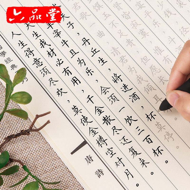 New 10pcs set University moderation Pen Copybook For Adult Groove Chinese Character Exercise Beginners Practice Calligraphy
