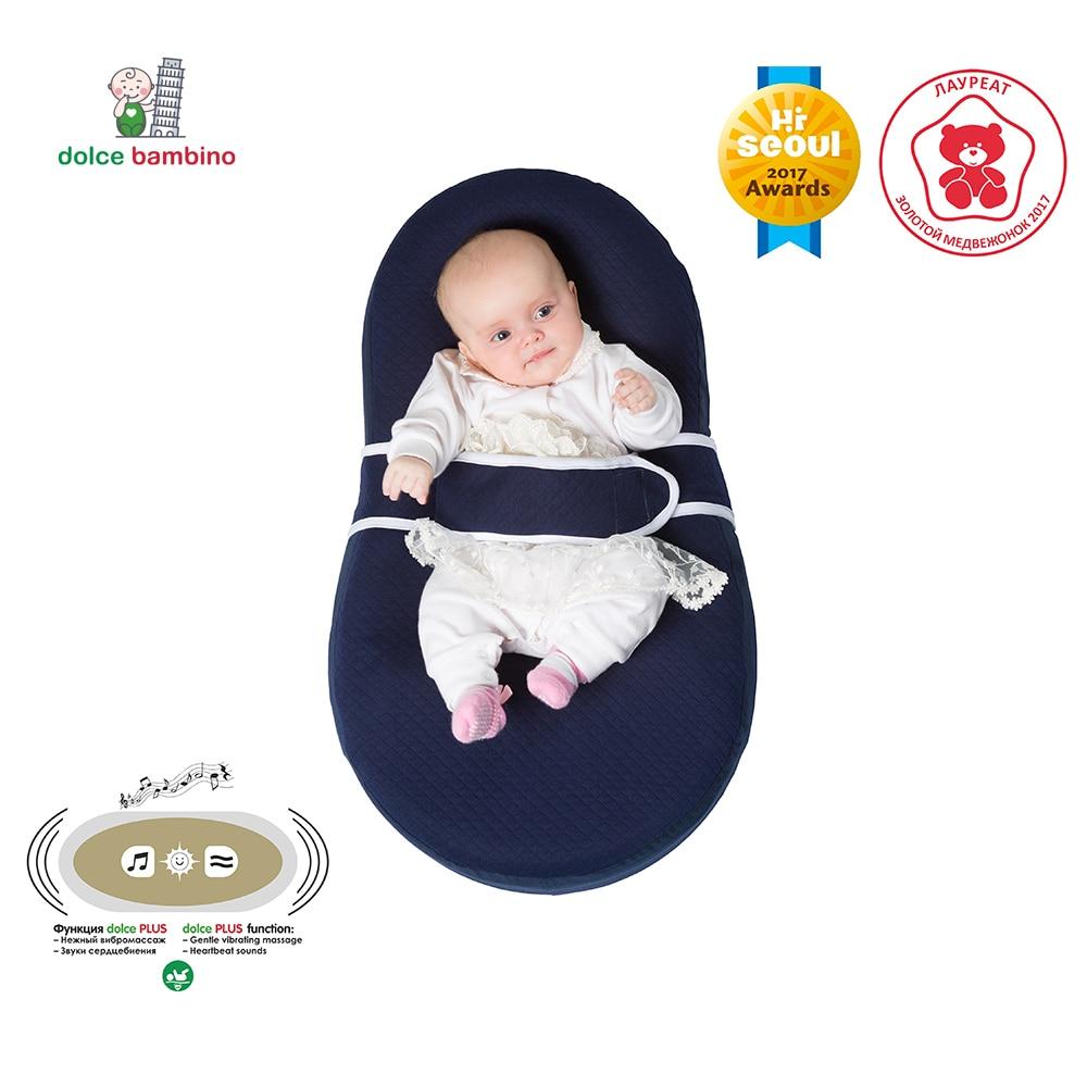 Dolce Bambino Cocon Plus matress infants newborn baby children kids massage sleep travel eco vibromassage waterproof blue цена