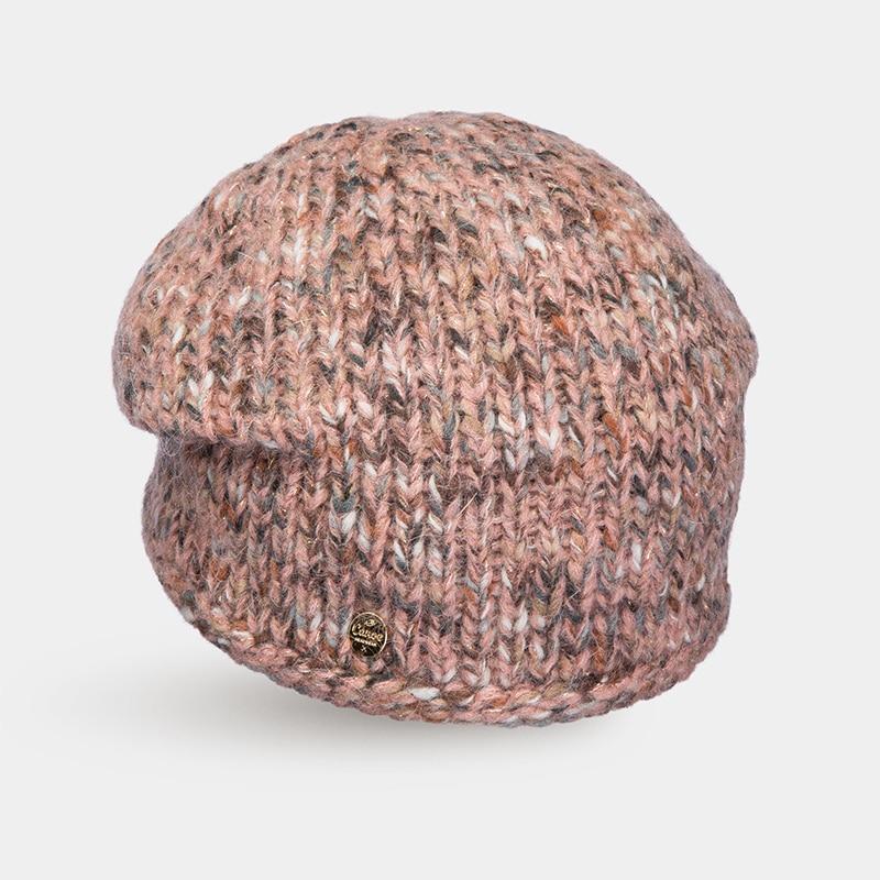 Hat Woolen hat Canoe 4715166 winter hat beret knitted women beanie knit hat skullies beanies rabbit fur soft thicken warm woolen gorros bonnets wholesale