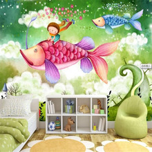 Childrens room decoration cartoon background wall professional production wallpaper mural custom photo