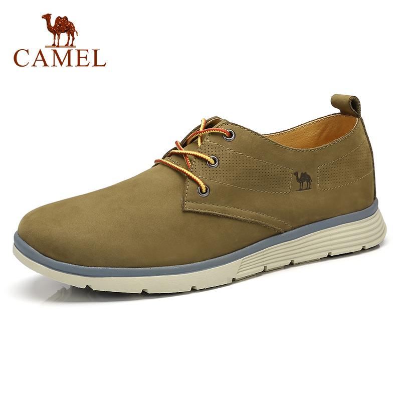 CAMAEL Outdoor Men s Shoes Wild Spring Genuine Leather Men Shoes Logging Frosted Breathable Cushioning Tooling