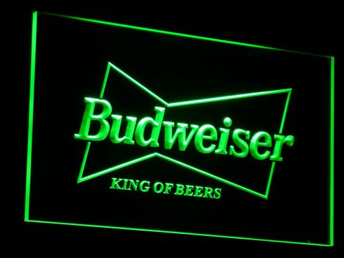 a009 Budweiser King Beer Bar Pub Club LED Neon Sign with On/Off Switch 7 Colors 4 Sizes to choose