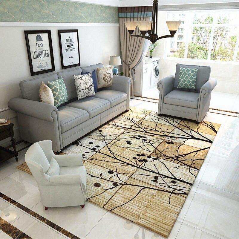 Accueil rétro Style nordique tapis pour salon maison chambre tapis et tapis 120x160 cm Table basse brève zone tapis enfants jouer tapis