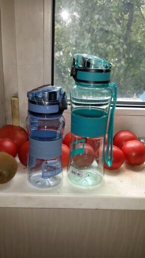 UZSPACE Water Bottles Portable Leakproof Fruit Lemon Juice My Water Bottle 500ML Travel Sports Drink plastic Drinkware BPA Free-in Water Bottles from Home & Garden on AliExpress