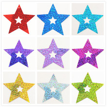 70mm some Colors Hollow Star Shape Sparkling Nail Art Sequins Approx 50pcs/lot for nails decoration