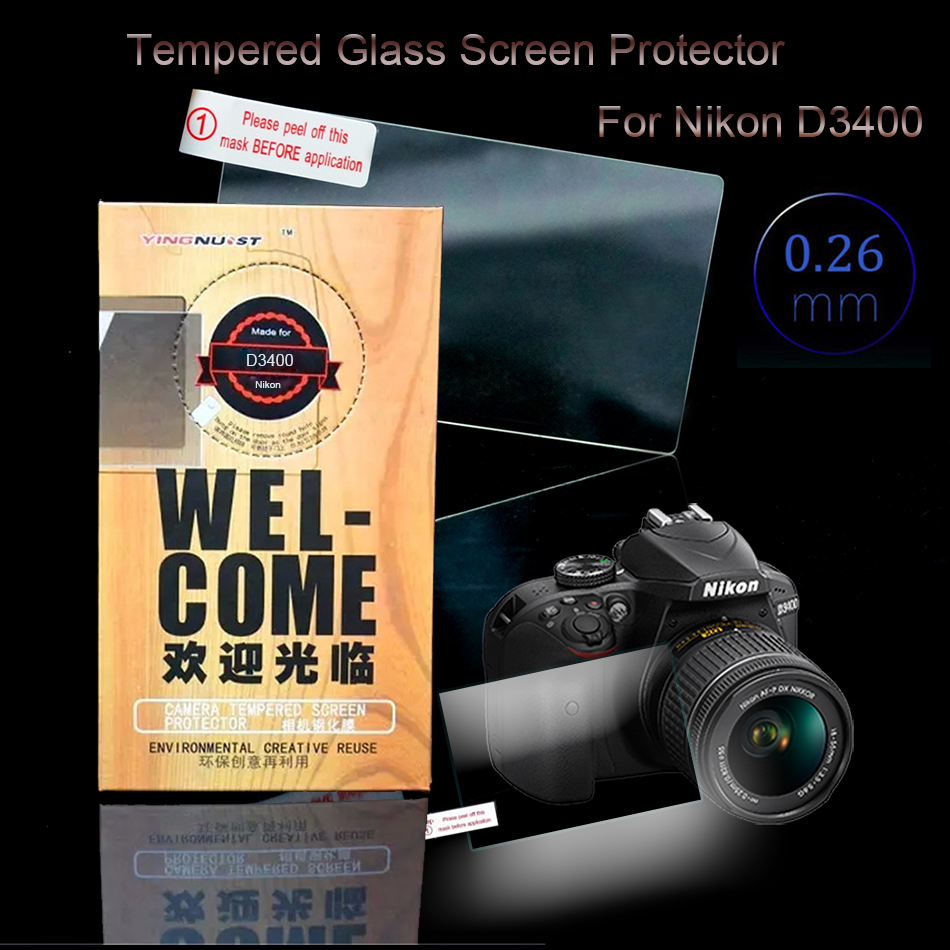 Original 3 inch Camera Tempered Glass Screen Protector For Nikon D3400 LCD Camera Screen Toughened Glass