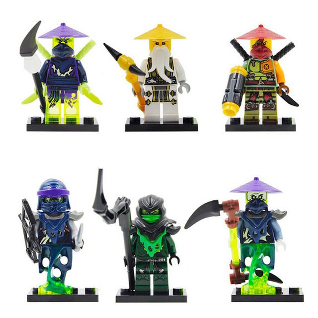 1ps Ninja Heroes Kai Jay Cole Zane Nya Lloyd Motorcycle With Weapons Building Blocks Figure Compatible Legoinglys Ninjagoinglys #4