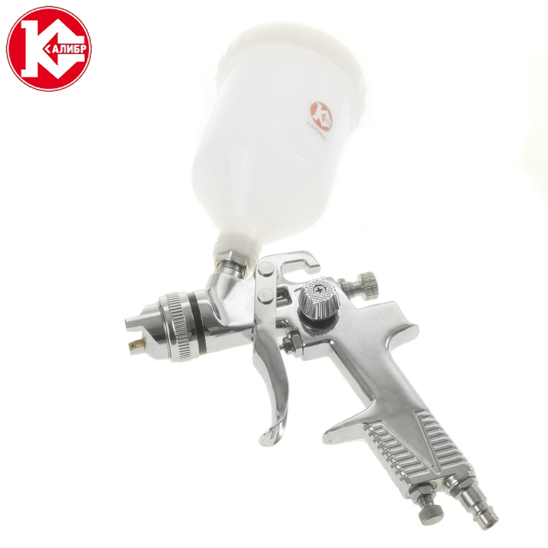 Kalibr KRP-1.4/0.6VB Pneumatic Spray Paint Gun Mini Air Brush Sprayer Painting Tools 120 atten at 858d smd hot air rework station hot blower hot air gun heat gun