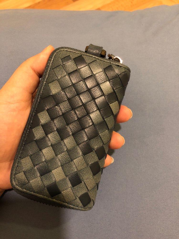key wallet Genuine leather fashion High-end sheepskin knitting Car key case unisex wallets key Holders 4 color 2 size photo review
