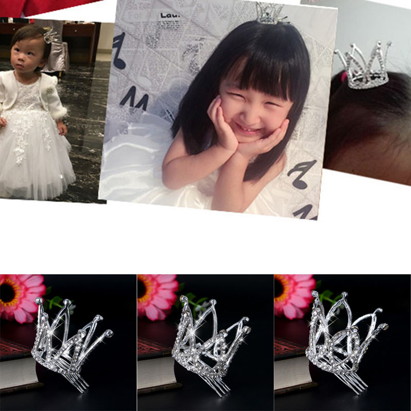2017 Pretty Kids Girl Crown Hair Clip Hairpin Princess Hair Accessories Headwear  MAR30_17