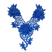 1pc Gold Collar Flower Lace Sewing Applique Lace Collar Neckline Collar Applique Diy Craft Neckline Sewing Accessories DN30