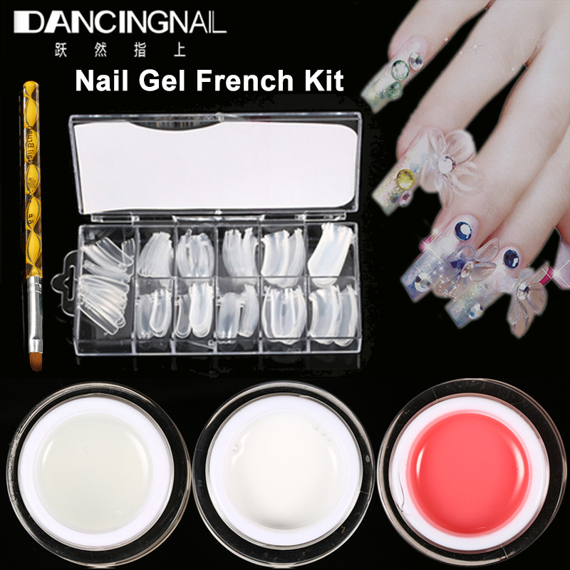 Online Shop Nail Gel Acrylic French Kit 15ml UV Builder Jelly Gel ...