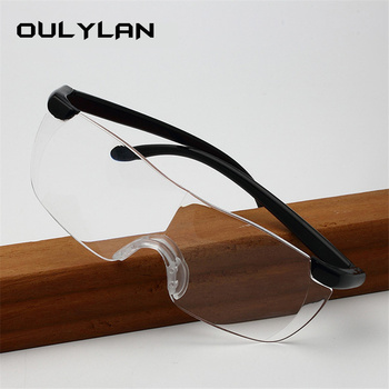 Oulylan Big Vision 250% Reading Glasses Men Women Frameless magnifying 1.6 times +250 Degrees Magnifies Glasses Presbyopic