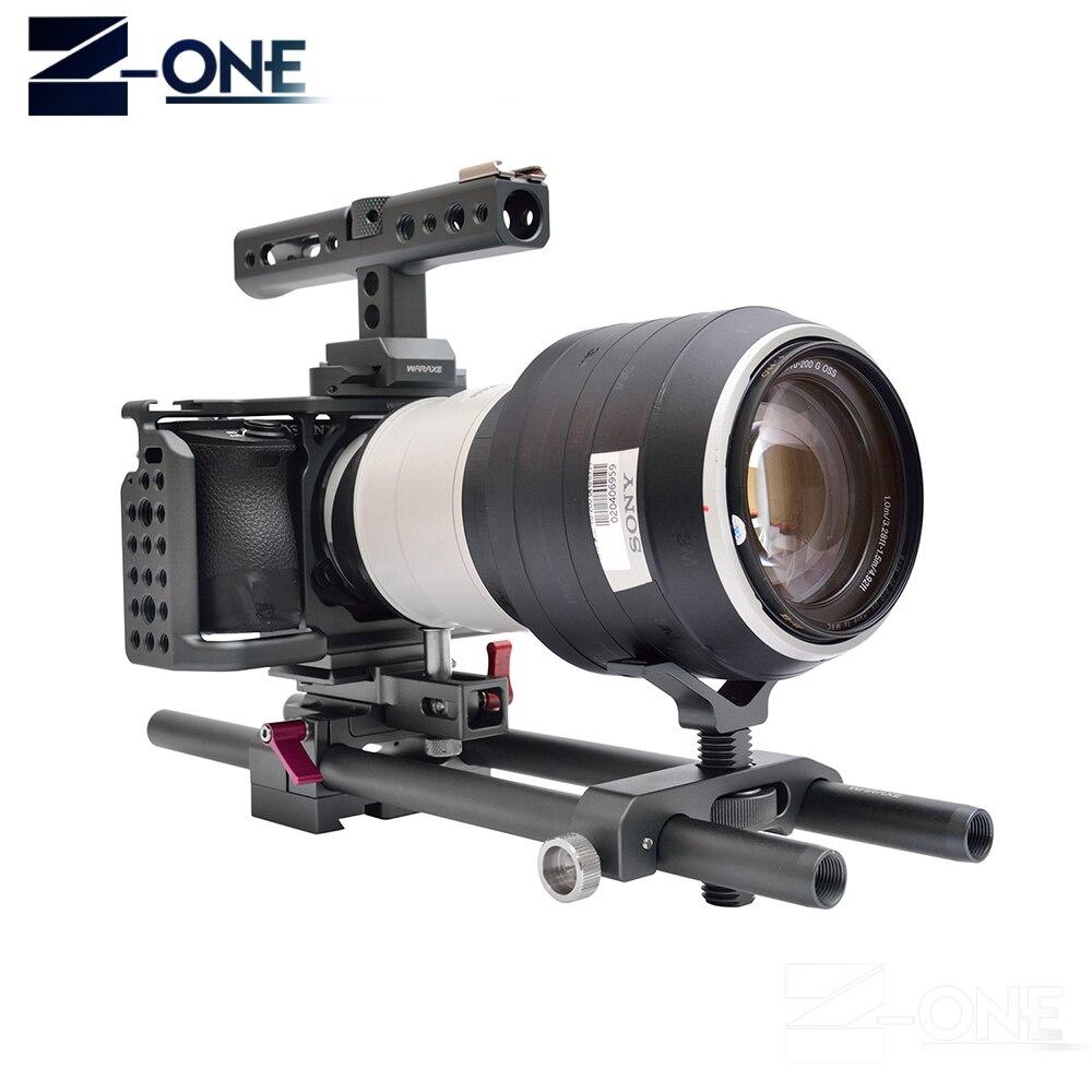 Kit de montage de Cage de caméra WARAXE A6 avec poignée de Rail de l'otan pour Sony A6000 A6300 A6500 ILCE-6000/ILCE-6300/ILCE-A6500
