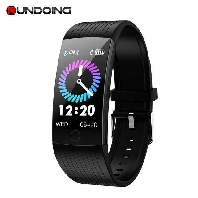 RUNDOING Q18 Pantalla de 1,14 pulgadas banda inteligente IP68 inteligente impermeable pulsera Fitness tracker smartband para Android y IOS