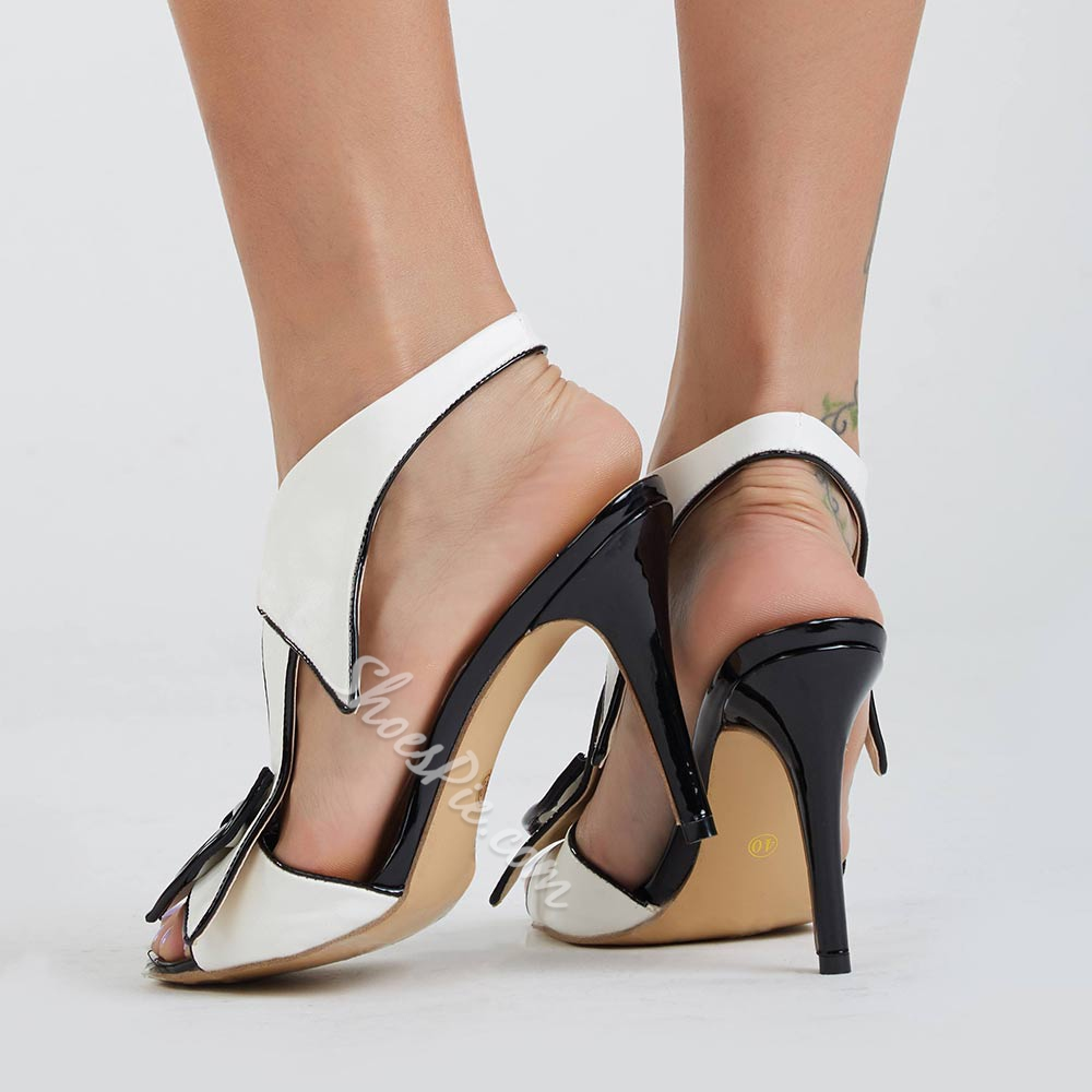 Sexy Elastic Band Bowtie High Heel Dress Sandals Women Big Bowknot Sandals Gladiator Buckle Strap Party Dress Shoes Thin Heel in High Heels from Shoes