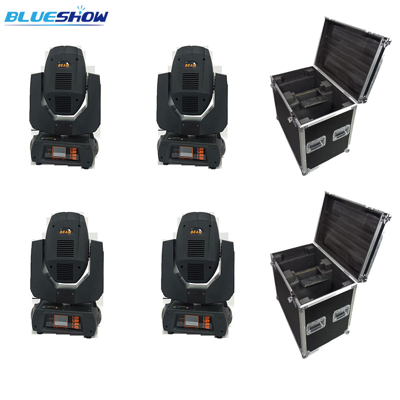 No tax custom, 4 lights with 2 case Sharpy 260w beam spot wash 3 in 1 LED Moving Head Light Beam 10R stage project
