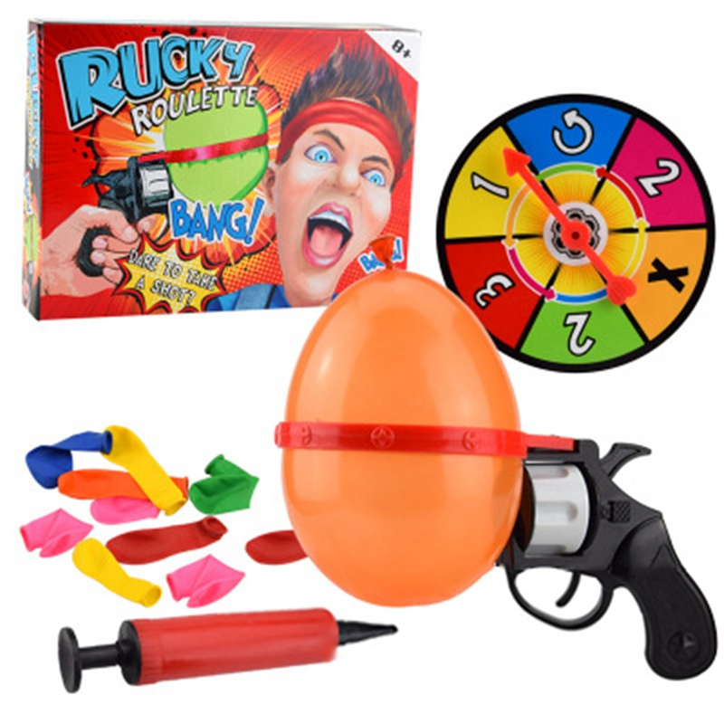 Lucky Roulette Family Interactive Games Russian Roulette Model Balloon Gun Party Tricky Creative Toy Gun Adult Tricky Funny Toy