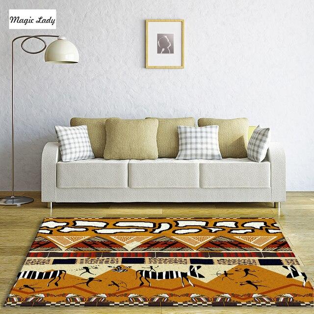 Salon Style Africain tapis salon chambre abstrait ornement ethnique zèbre tigre léopard