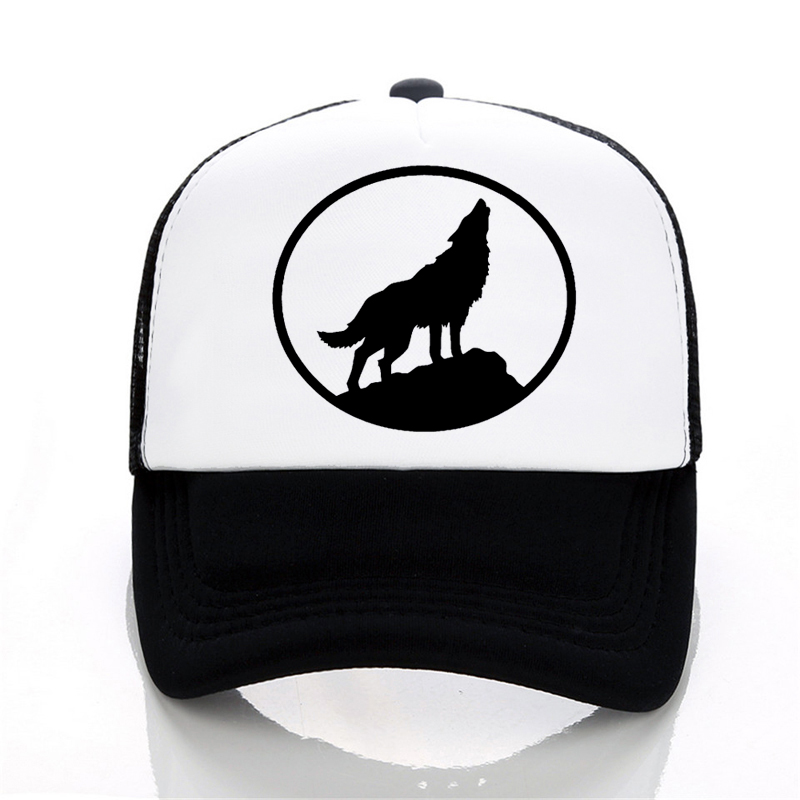 Wolf   Baseball     caps   summer Men and women trucker   cap   Casual outdoor Mesh   cap   hip hop snapback hats
