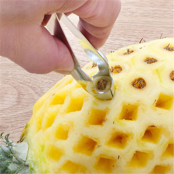 1Pc Cheap Pineapple Eye Peeler Stainless Steel Cutter Practical Seed Remover Clip Home Kitchen Tools Free Ship