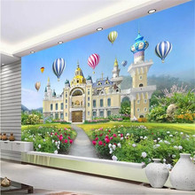 Beautiful girl princess fantasy castle 3D background wall manufacturers wholesale wallpaper mural custom photo
