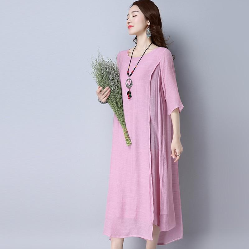 2017 Women Summer Maxi Long Dress Party Casual Elegant Loose Fashion Sheer Sexy Ladies Shift Shirt Dress Plus Size 5XL Vestidos
