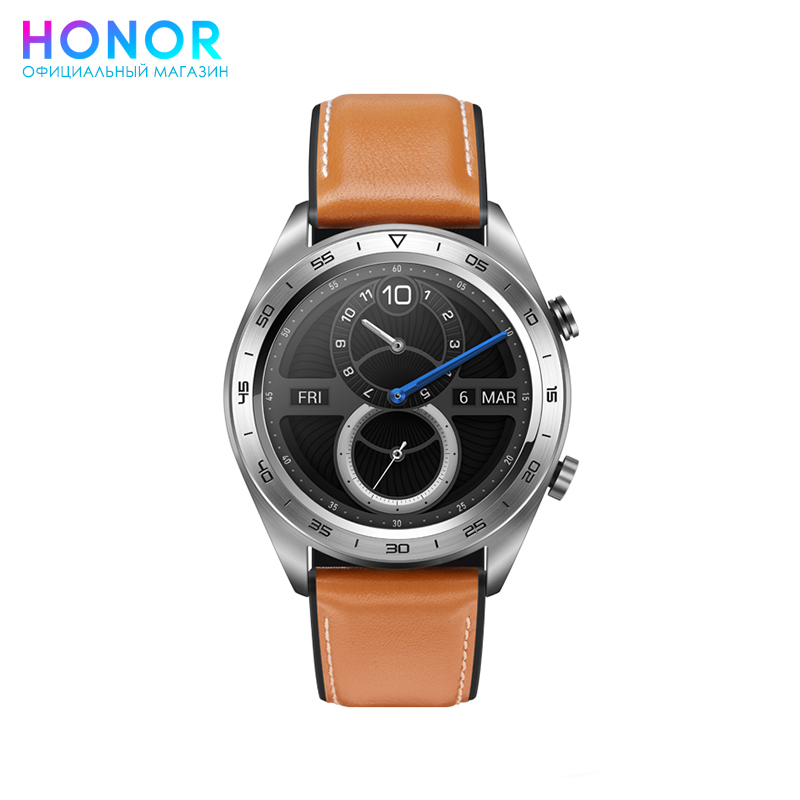 HONOR Watch Magic Silver Leather date faux leather quartz watch