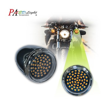 PA LED 2pcs x For Harley Davidson Motorcycle style Edition 1156 BA15S Amber LED Turn Signal Light Bullet Style 9-32V PA