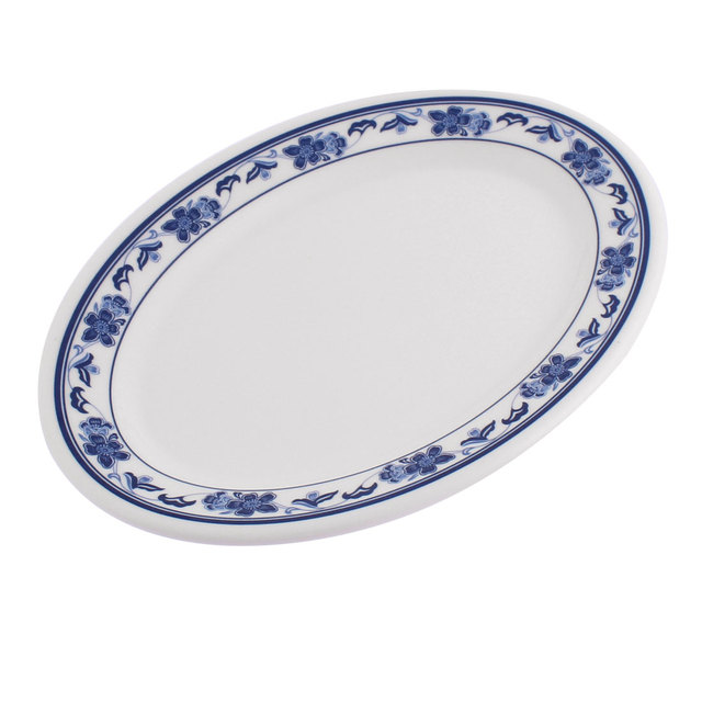 UXCELL Plastic Oval Shaped Flower Printed Food Snack Dessert Dish Plate White Blue  sc 1 st  AliExpress.com & UXCELL Plastic Oval Shaped Flower Printed Food Snack Dessert Dish ...