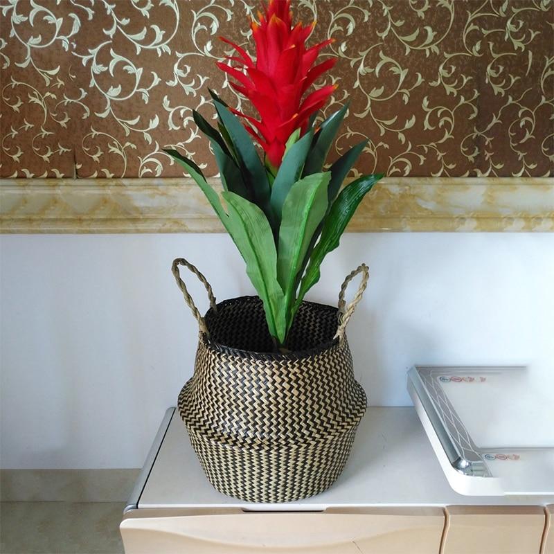 WCIC-Foldable-Patchwork-Storage-Basket-Wickerwork-Laundry-Basket-Picnic-Hanging-Seagrass-Flower-Pot-Toy-Organizer-Storage
