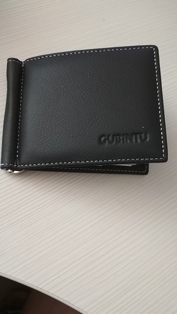 Hot Sale Fashion New Casual Genuine Leather Black Coffee Personality Design Cross Style Money Clips For Young Men photo review