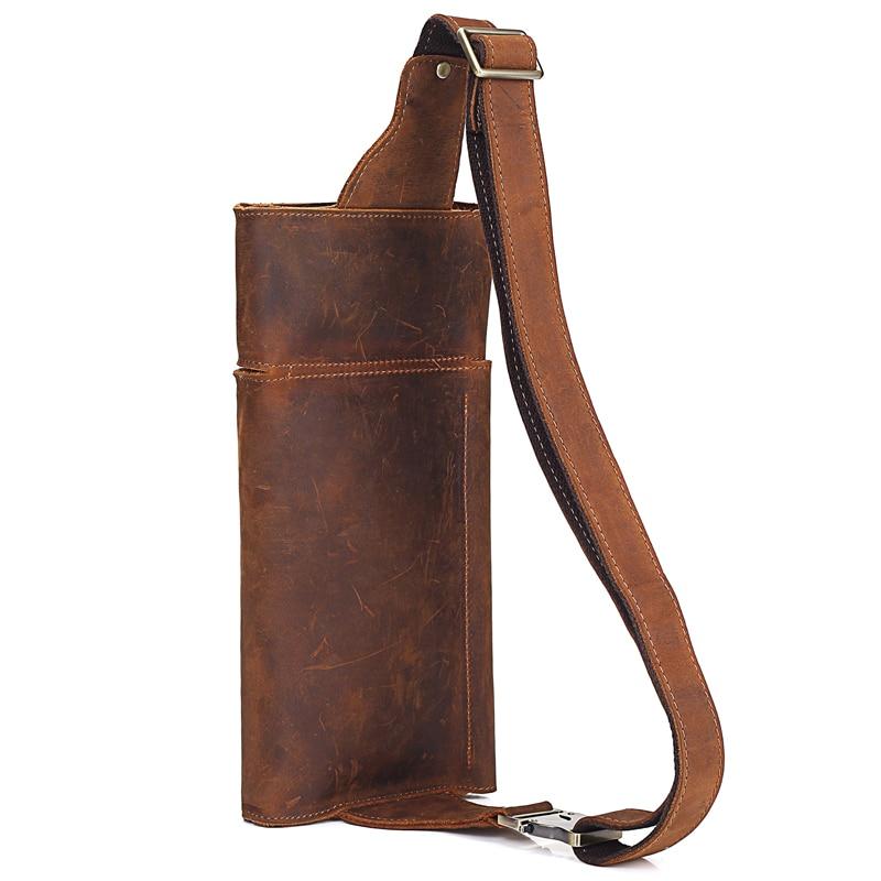 Image 4 - 2019 New Vintage Genuine Leather Men Waist Pack Casual Multi  functions Fanny Pack Belt Bag Male Travel Phone Pouch Shoulder Bagbag  fannybelt bagwaist pack